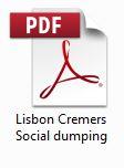 Lisbon Cremers Social dumping